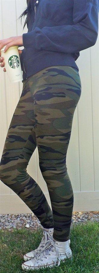 $13.99 | Top Selling Thick fleece lined Camo Leggings | Shop women's boutique deals on Jane.com!
