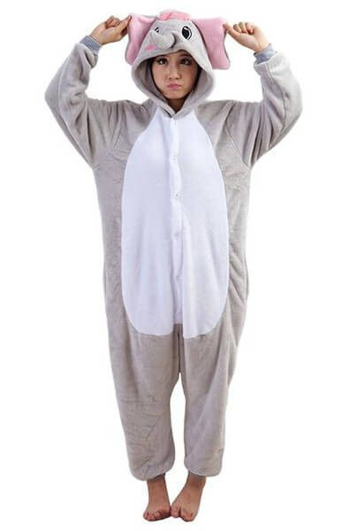 Grey Elephant Onesie for Adults