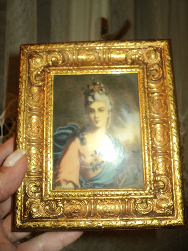 1000 images about miniature gold frame painting made in for Baroque italien