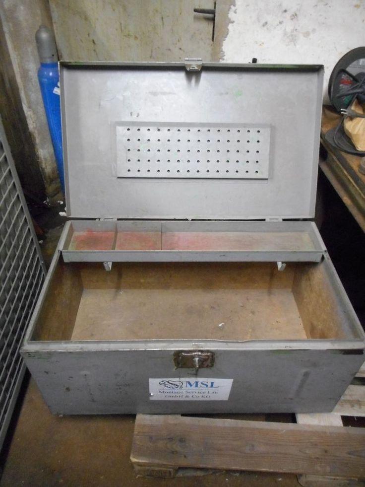 Stabile Stahlblech Werkzeugkiste 90 x 53 x 42 cm Metallkiste Werkzeugbox  Nr. 2