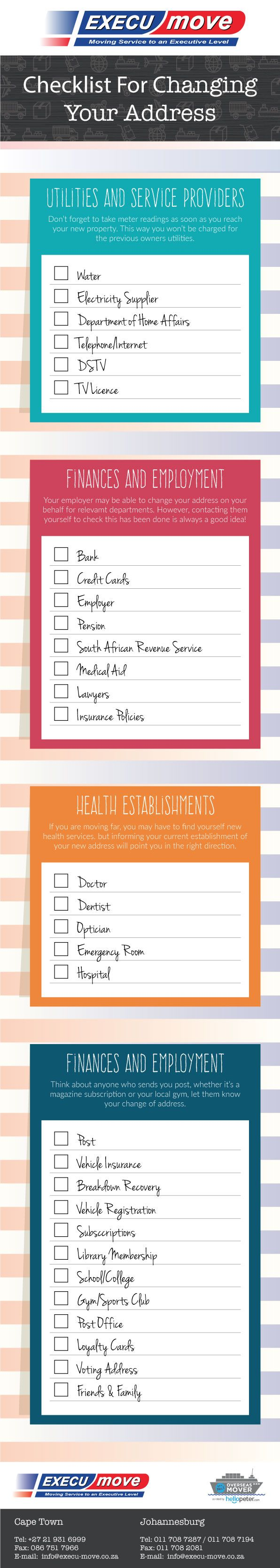 Infographic: Checklist For Changing Your Address - Execu-Move