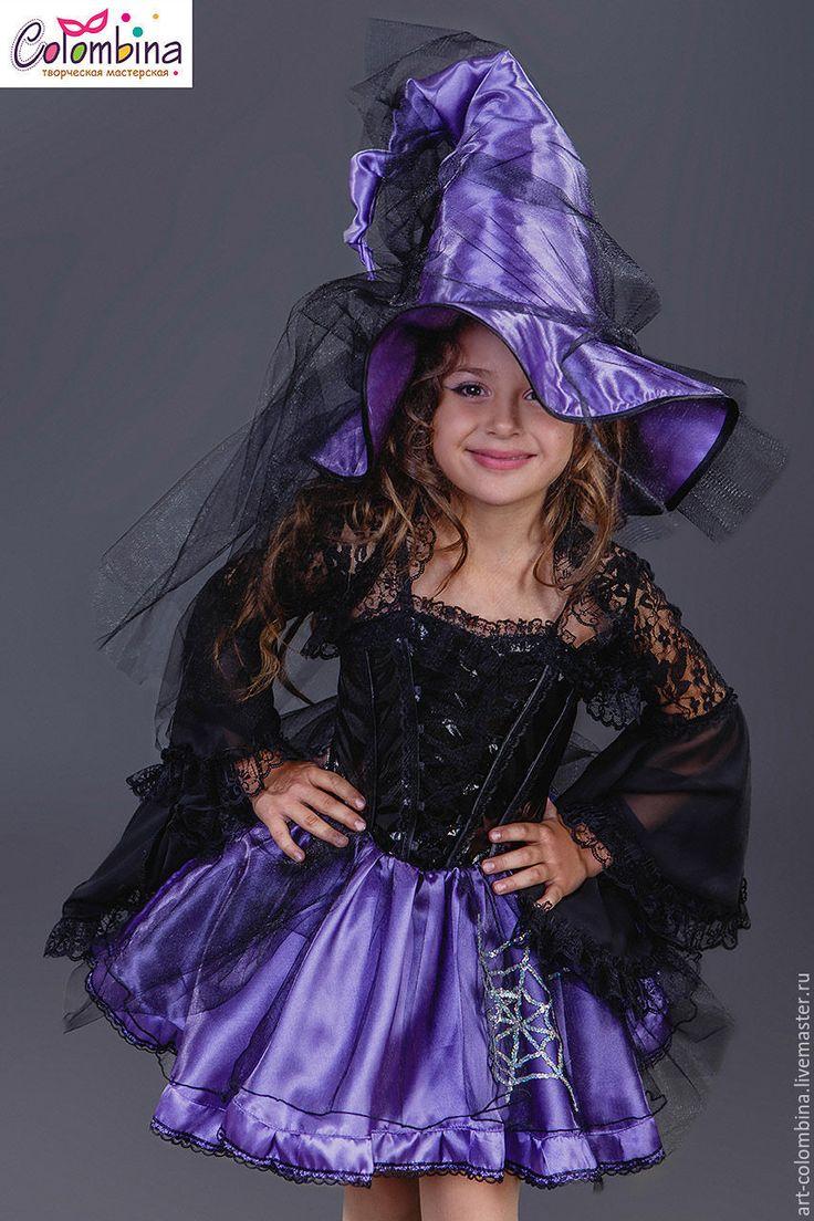 Купить или заказать Костюм ведьмы в интернет-магазине на Ярмарке Мастеров. карнавальный костюм ведьмы для девочки комплектация: платье, болеро, шляпа чешки продаются отдельно размер 134-146+300…