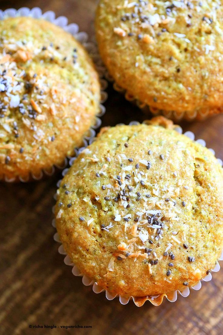 Lemon Coconut Chia Muffins. Zesty Muffins with Lemon, chia seeds, coconut and…