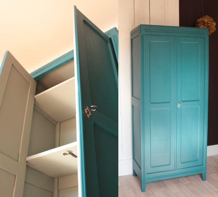 armoire parisienne chambre enfant vintage bleue années 50 TRENDY LITTLE 2