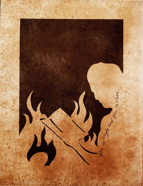 Fahrenheit 451 silhouette