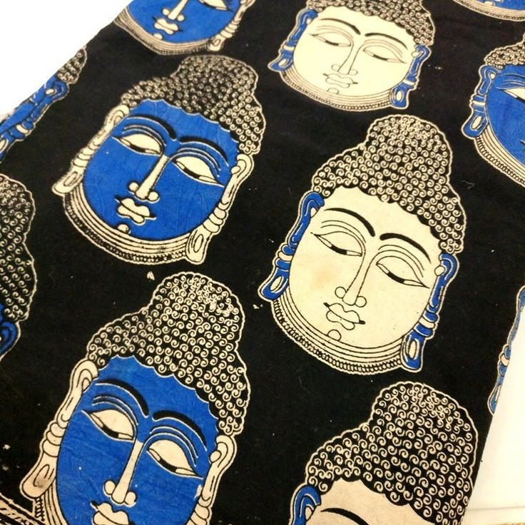 Buddha Print Kalamkari Hand Printed Indian fabric, kalamkari block print ₹130.00 Thick-ish cotton which practically good for anything from table linens, tote bag, curtain, pillow covers, upholstery, etc. The fabric is 100% cotton Machine washable and wash dark colors separately. I... https://shop.chezvies.com/#!/Buddha-Print-Kalamkari-Hand-Printed-Indian-fabric-kalamkari-block-print/p/96952611