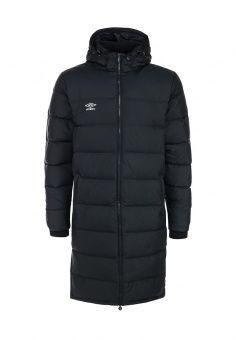 Пуховик, Umbro, цвет: черный. Артикул: UM463EMFOM28. Мужская одежда / Верхняя одежда / Пуховики и зимние куртки