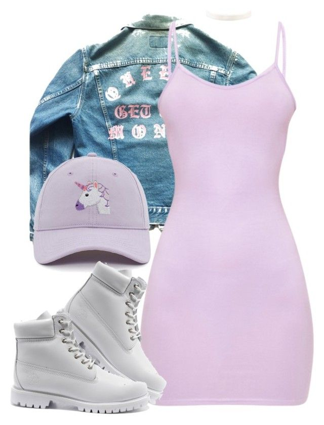 """""""Untitled #1314"""" by wavvy-k ❤ liked on Polyvore featuring Levi's and Timberland"""