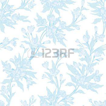 soft floral seamless patterns: Stylish vintage floral seamless pattern.