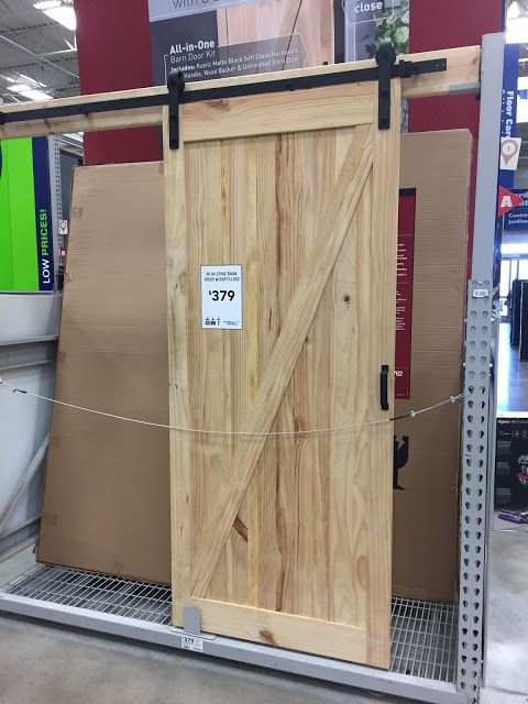 DIY barn doors and tutorials -you can also find sliding barn doors at Lowe's and Home Depot!