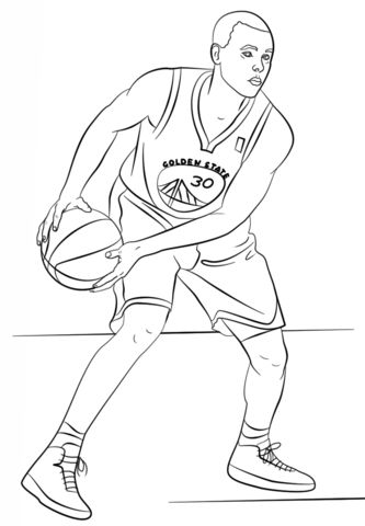 Stephen Curry coloring page from NBA category. Select from 27278 printable crafts of cartoons, nature, animals, Bible and many more.