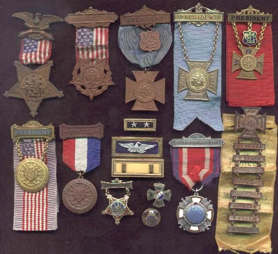 Civil War medals....he wore each medal with pride but there was an underlying sadness to watch brother & brother fight against each other...