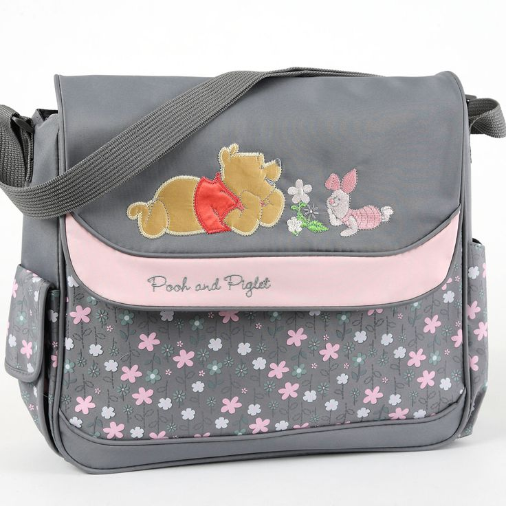 WINNIE THE POOH Large Diaper Bag – Pink and Gray