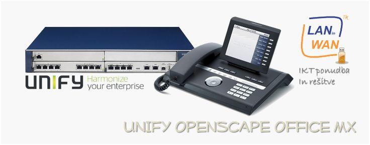 UNIFY OpenScape Office MX združi telefonske klice, govorne nabiralnike, konference, faks in e-mail sporočila v eno samo poenoteno komunikacijsko IP rešitev, ki močno olajša vaše delo.