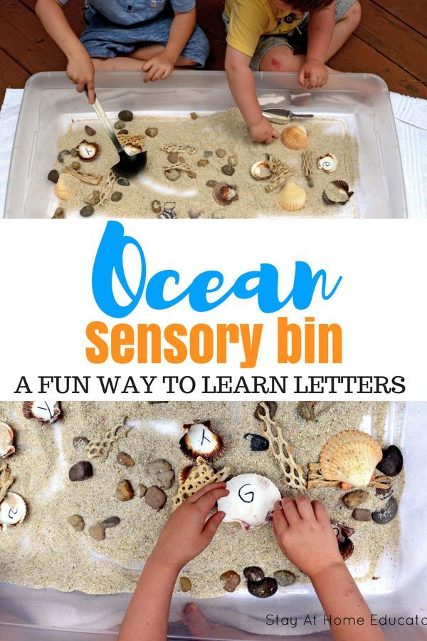 Name Recognition Activity with an Ocean Sensory Bin