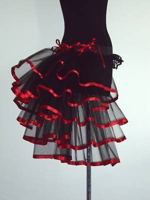 BuRlesQue MouLin RouGe BuStle ReD BLaCk Belt 14 16 18 Sexy Steam Punk on eBay!