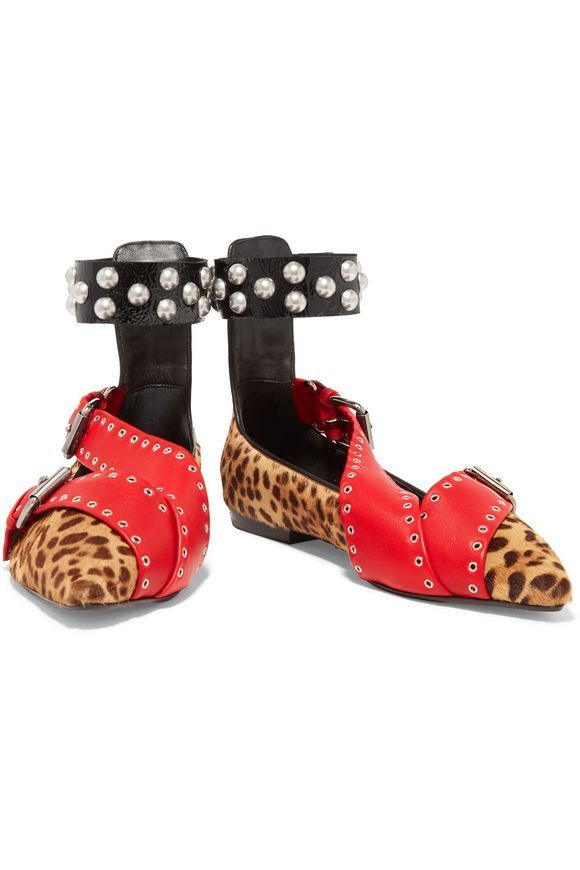 Linzy leopard-print calf-hair and leather point-toe flats | ISABEL MARANT | Sale up to 70% off | THE OUTNET