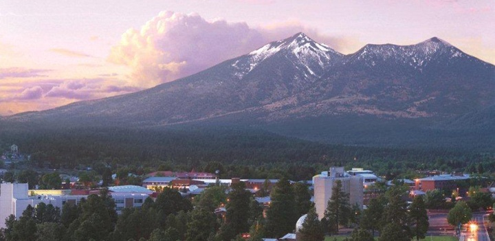 Flagstaff...a beautiful photo that includes the campus of my Alma Mater, Northern Arizona University