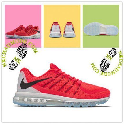 Montante | Nike Chaussure Sport Air Max 2014 Homme Rouge/Refleter Argent
