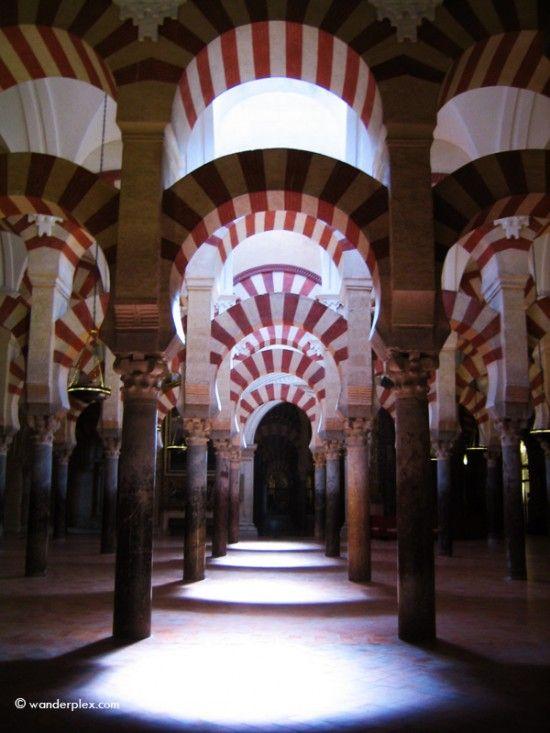 Los arcos de la Mezquita de cordoba