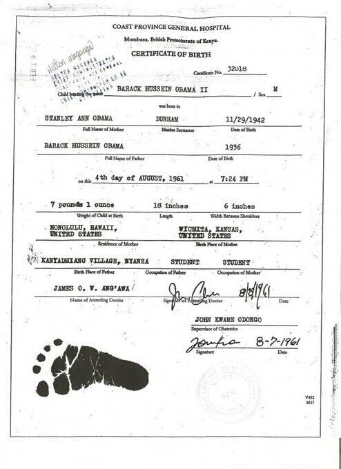 """Surely. What's this?"" tweets Malik Obama, half brother to President Obama. True birth certificate of Barack Obama born in Kenya."