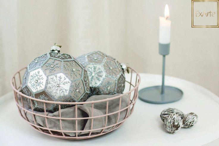 Design na Święta Bożego Narodzenia - szklane bombki choinkowe.  Please visit ExArte - our online shop with beautiful, hand crafted glass christmas ornaments :)