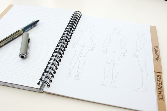 Maker's Workbook: Sewing journal, record your makes but it also has room for sketching!