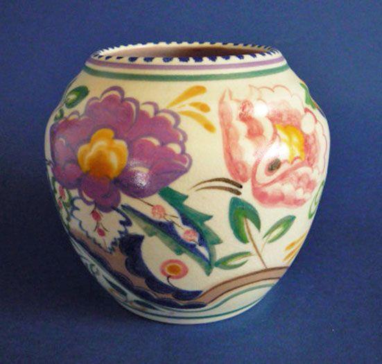 Poole Pottery AP Pattern Vase by Truda Carter c1934