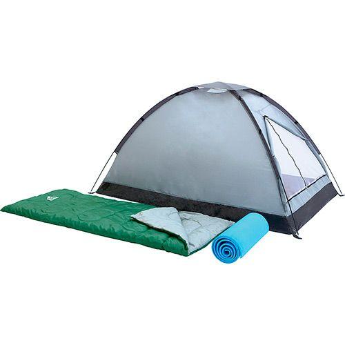 Americanas Kit Camping Campak: Barraca de Camping 2 Pessoas + 2 Sacos de Dormir + 2 Colchonetes - R$120