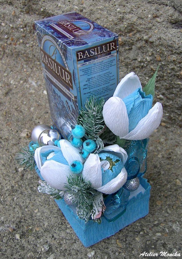 Christmas decor tea Basilur + Ferrero Rocher https://www.facebook.com/AtelierMonikaCelenkyBroze?fref=ts