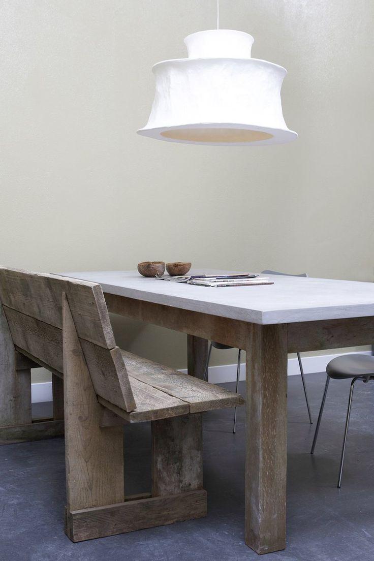 Meer dan 1000 ideeu00c3u00abn over betonnen tafel op pinterest betonnen ...