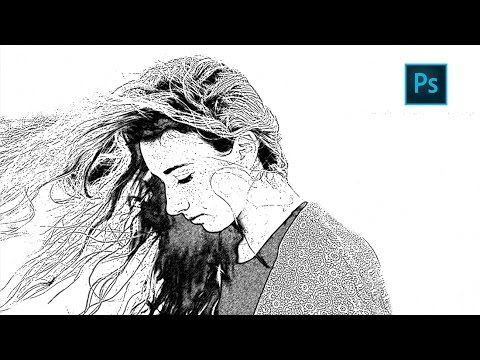 Photoshop Sketch Effect Tutorial | How to Turn photo into pencil drawing - YouTube