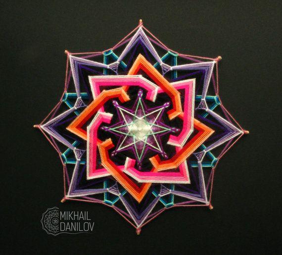 Tejido mandala Galaxia hilado mandala ojo de por DanilovMandala