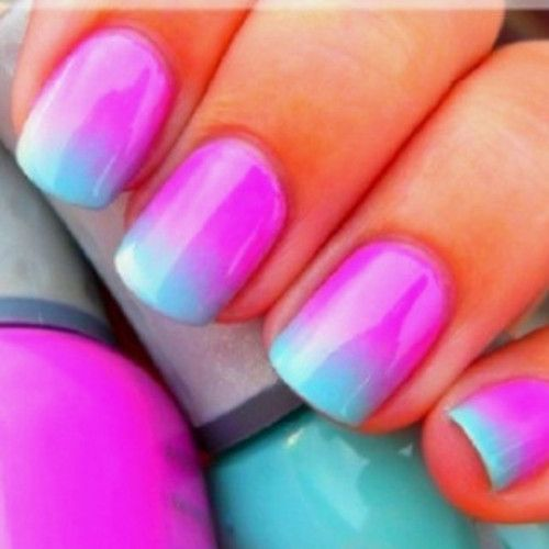 Perfect ombre nails to pair with our designer brights