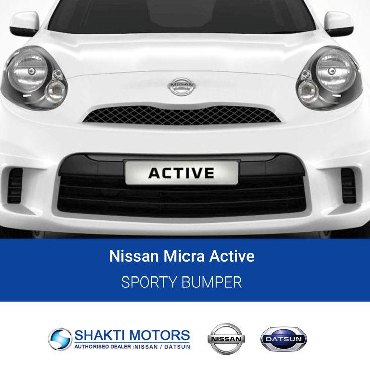 #Sporty #Bumper for Nissan #MicraActive Visit us: https://goo.gl/JLkHmO #SunnyCars #BookMyCar #MyCar #Datsun #DatsunCar #Nissan #FirstCar #Drive #Road