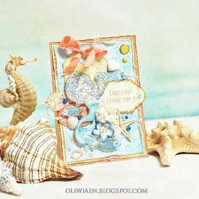 ScrapBerry's: Soft and pretty mermaid card made by Maja Nowak with the Ocean Enchantment collection.