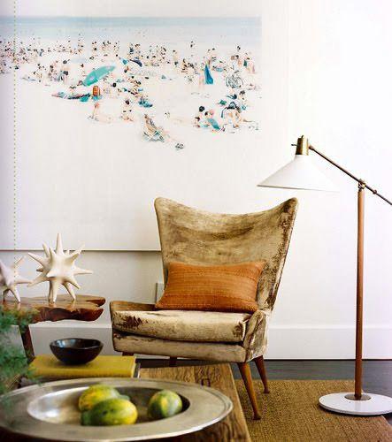 vintage chair & artwork by Massimo Vitali | brad ford