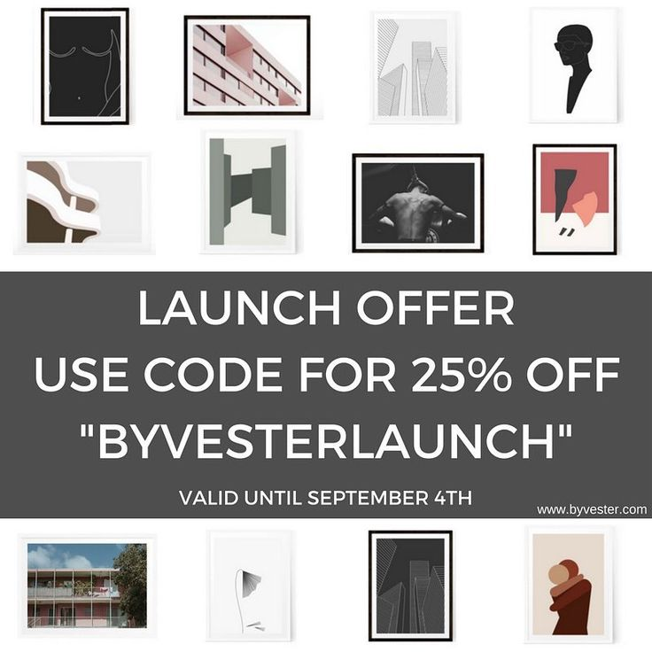 25% launch discount until this monday, use the code BYVESTERLAUNCH. Link to shop in profile! //Sia