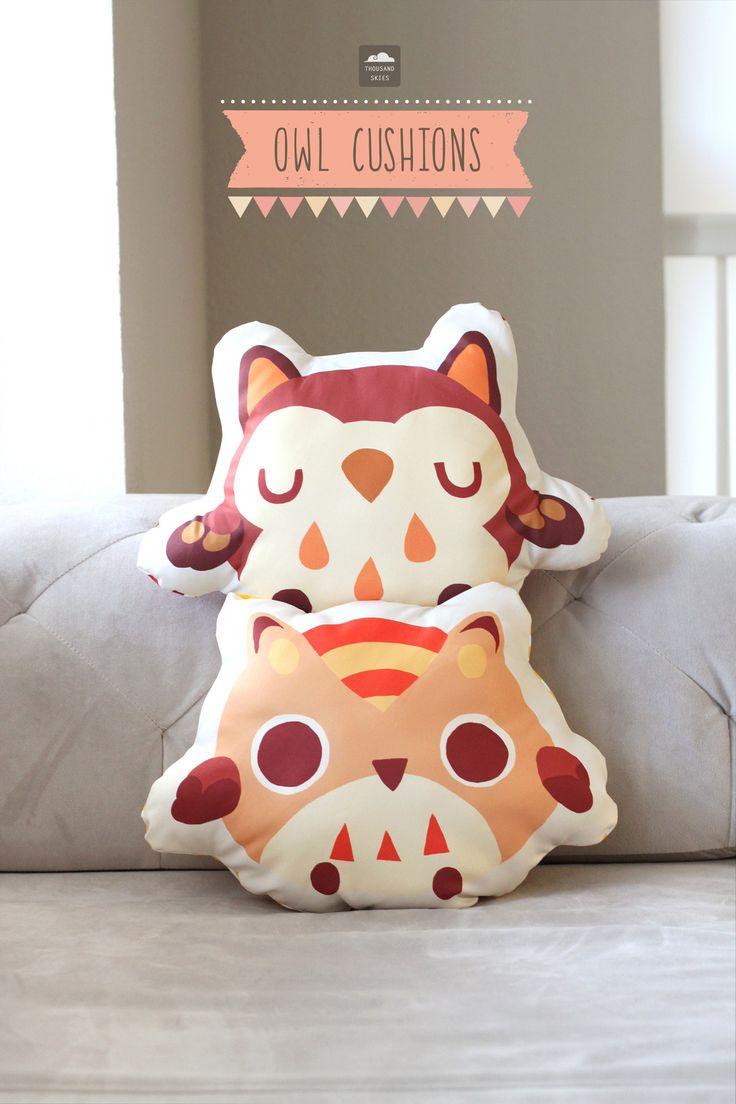 My Owl Cushions Buddies. — Thousand Skies