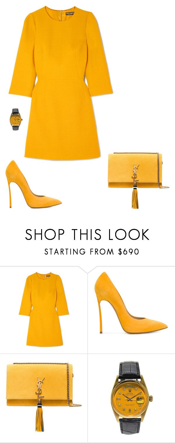 """Love Is Blindness"" by dollyrockerx3 ❤ liked on Polyvore featuring Dolce&Gabbana, Casadei and Yves Saint Laurent"