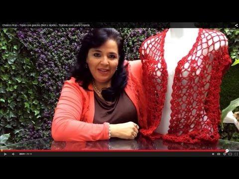 Chaleco Rojo - Tejido con gancho (fácil y rápido) - Tejiendo con Laura Cepeda - YouTube