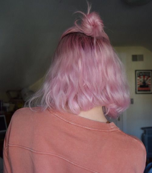 vibrant locks // hair // colour // hair dye // bright // aesthetic // grunge // pastel // pink