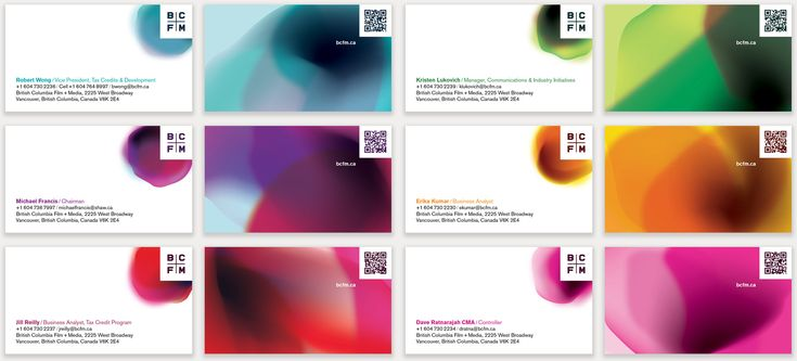 BCFM business cards
