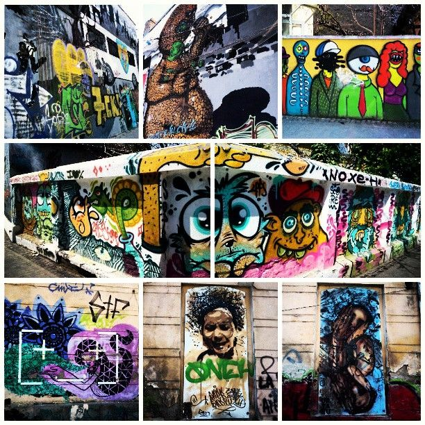 In Bucharest, Romania. And this is why I love Arthur Verona Street :D #graffiti #art #urban #streetart