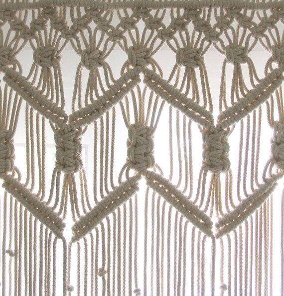 Personalizada cocina fibra de cortinas de Macrame por KnotSquared