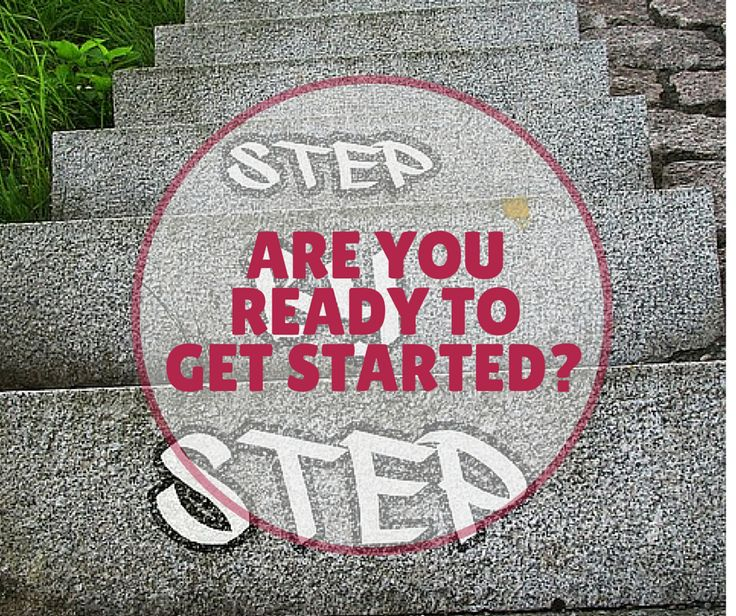 One step at a time to get started.