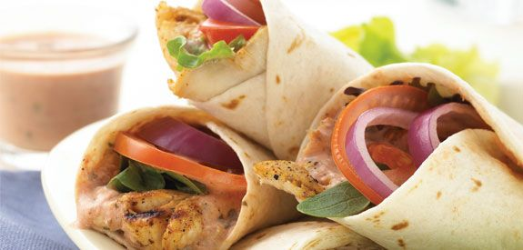 """""""When the weather is warm, and you're outside by the pool or the sea, try one of these light and fresh wraps. It's a healthy and seasonal choice that will please you and your guests."""": Healthy Trout, Trout Wraps, Lee Grilled, Grilled Trout Wrap, Fresh Wraps, Fish Shrimp Seafood, Lee S Seafood, Healthy Foods, Light"""