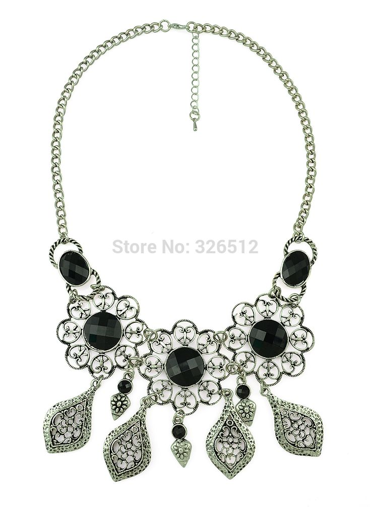 Бохо выдалбливают большой круглый резьба цветок Gem турецкий нагрудник ожерелье цыганский чешский золотые заклепки листья бахрома ожерелье