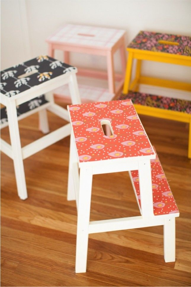 18 Ways to Hack the IKEA Step Stool in Every Room of the House | Brit + Co