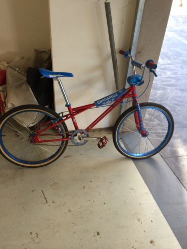 """SE Racing Quadangle 2010 Looptail BMX 24"""" Cruiser Red and Blue"""
